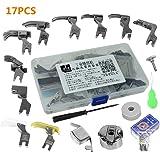 Piezas Prensatelas Accesorios, Piezas de la máquina de coser industrial 17pcs presiona los accesorios y