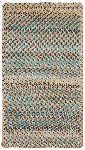 """Price comparison product image Capel Rugs Ocracoke Cross Sewn Rectangle Braided Runner,  27"""" x 9',  Deep Blue"""