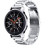 V-MORO Metal Band Compatible with Galaxy Watch 46mm Strap/Gear S3 Classic Bands 22mm Solid Stainless Steel Business Strap for Samsung Galaxy Watch 46mm R800/Gear S3 Classic Frontier