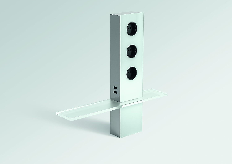 Küche PowerTower Deko Energiebox Glas, 3 Steckdosen + 2 USB Mit Wandler,  Tower: Amazon.de: Baumarkt