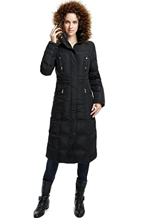 Bgsd Womens Lillian Water Resistant Long Down Coat Black S