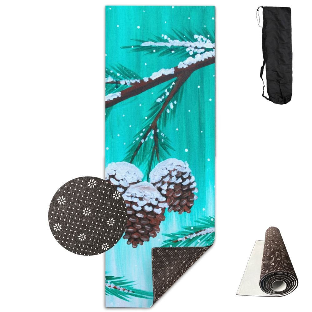 Amazon.com: BINGZHAO Winter Snow Cones Exercise Yoga Mat For ...