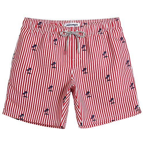 MaaMgic Mens Boys Short Striped Swim Trunks Mens Bathing Suits Slim Fit Swim Shorts Swimsuit for ()