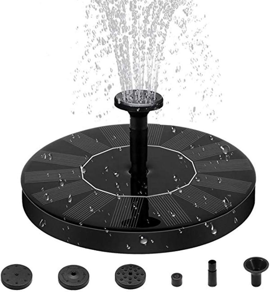 Fuente Solar Bomba, Energía Solar al Aire Libre de pie Fountain Pump, Bomba Flotante con Panel Solar Jardín Solar Kit Bomba de Agua Bomba Sumergible para Jardín y Birdbath y Estanque(2018 Actualizado)