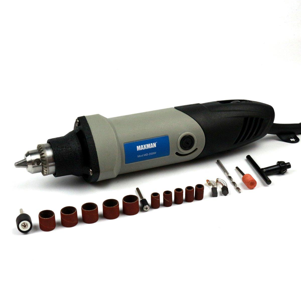 MAXMAN Electric Mini Die Grinder 110V 200W 6-grade Variable Speed Rotary Tool Multifunctional DIY Power Tools