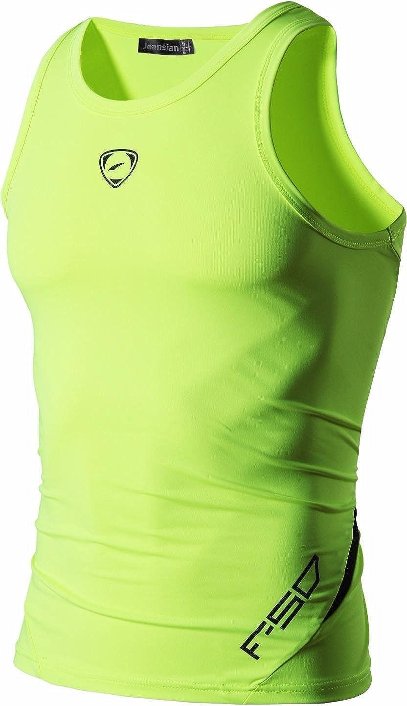 Jeansian Uomo Sportivo Palestra Muscolo Formazione Veste Canotta Fashion Workout Vest Tank Top LSL3306