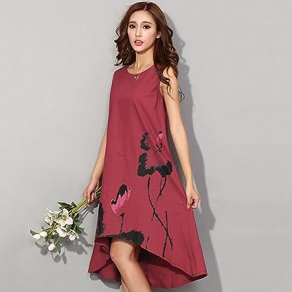 Babigirl Summer Dress NEW New Vestido Casual Dresses Women Chinese Linen Vintage Dress Ladies Sundress Plus