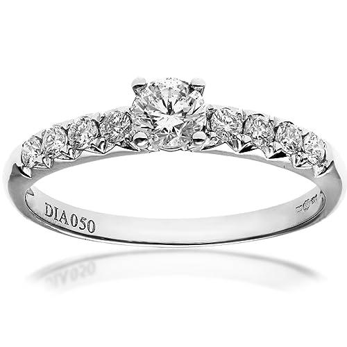 Naava - Anillo para Mujer de Oro 18K con Diamante