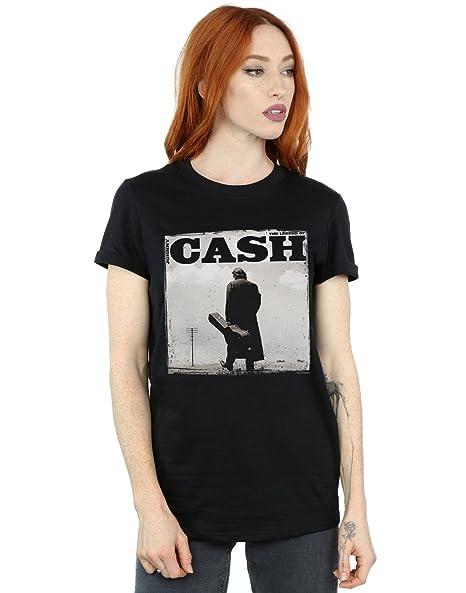 Amazon.com: Johnny Cash Womens Walking Legend Boyfriend Fit T-Shirt: Clothing