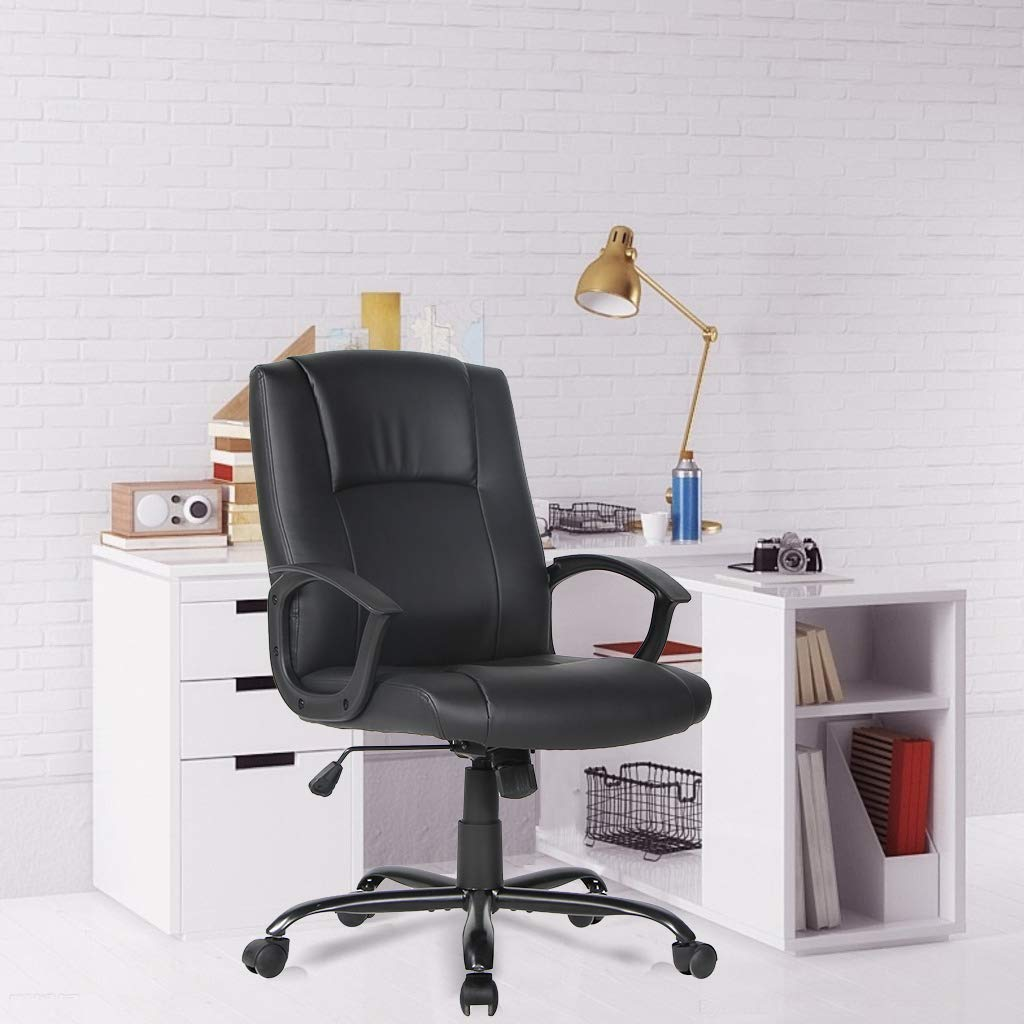 Smugdesk Office Ergonomic Office Chair Executive Bonded Leather Computer Chair, Black by Smugdesk (Image #6)