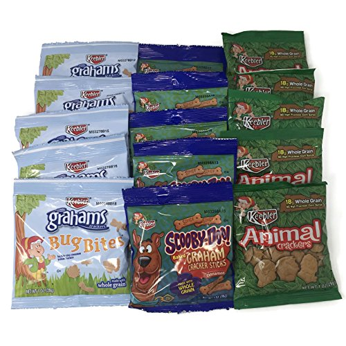 Cracker Bites (Keebler 15 Snack Pack Variety Set - Bug Bites, Scooby-Doo Graham Cracker Sticks, and Animal Crackers (5 of each))
