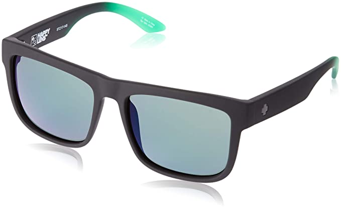 99b9098774 Spy Optic Discord Polarized Flat Sunglasses (Black with Green Flash)