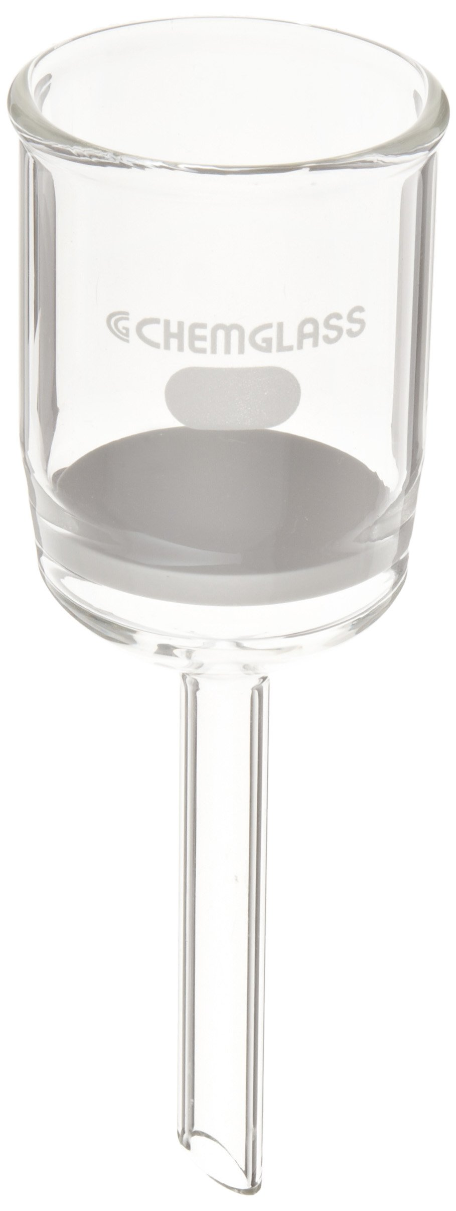 Chemglass CG-1402-16 Glass Buchner Filtering Funnel with Fine Frit, 60mL Capacity