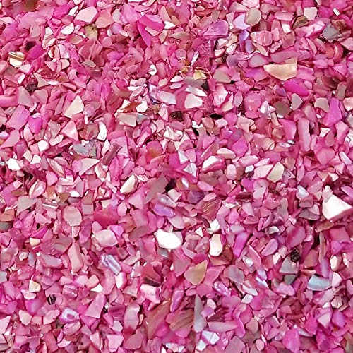 Mosaic Purple Mother Of Pearl - BeachWalk Small Natural Crushed Shells - for Weddings, Vase Filler, Home Décor, and Crafts (48 oz (3 lb), Fuchsia Pearl)