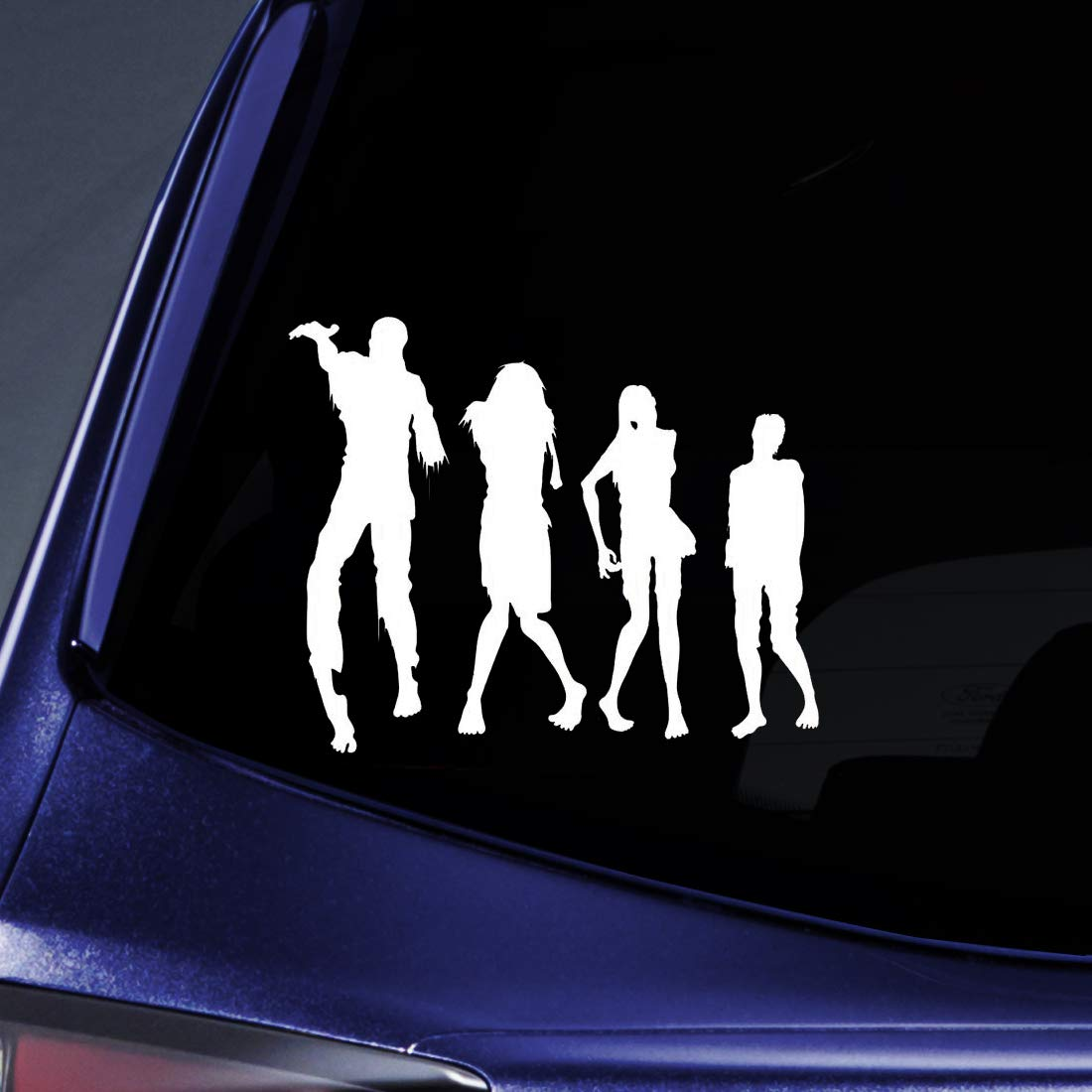 """Bargain Max Decals - Zombie Horse Family Sticker Decal Notebook Car Laptop 6"""" (White)"""