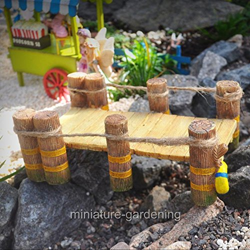 Miniature Fairy Garden Waterfront Dock - My Mini Garden Dollhouse Accessories for Outdoor or House Decor (Waterfront Cottage)