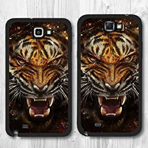 For Samsung Galaxy Note 2 Case, Angry Tiger Pattern Protective New Design Hard Phone Cover Skin Case For Samsung Galaxy Note 2 + Screen Protector