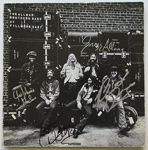 The Allman Brothers Band Signed Album – At Fillmore East (signed by all four). BAS COA.