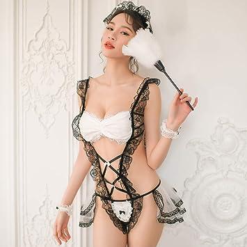 Liu Sensen Lencería Picante Mujeres Virgin Primera Noche Vestido De Novia Velo Negro Blanco Encaje Velo