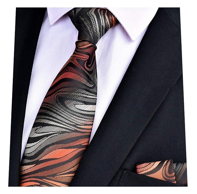 Amazon.com: MENDENG Pañuelo de corbata a rayas de cachemira ...