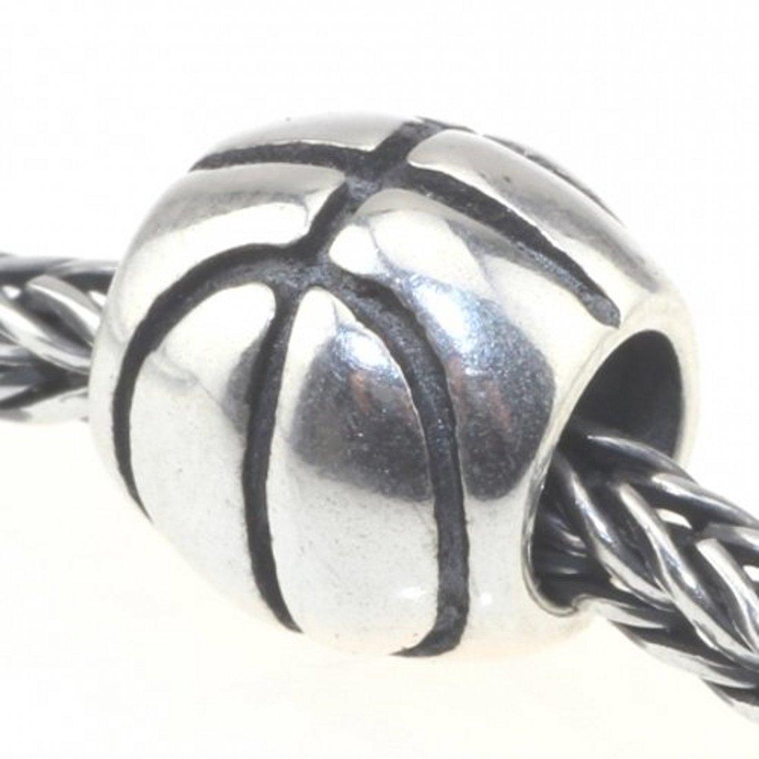 Beads Hunter Silver Basketball Bead Charm