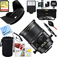 Nikon 2174 PC-E FX Full Frame Micro NIKKOR 45mm f/2.8D ED Lens + 64GB Ultimate Filter & Flash Photography Bundle