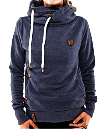FuweiEncore Frauen Fleece Pullover Kapuzen Sweat Hoodie