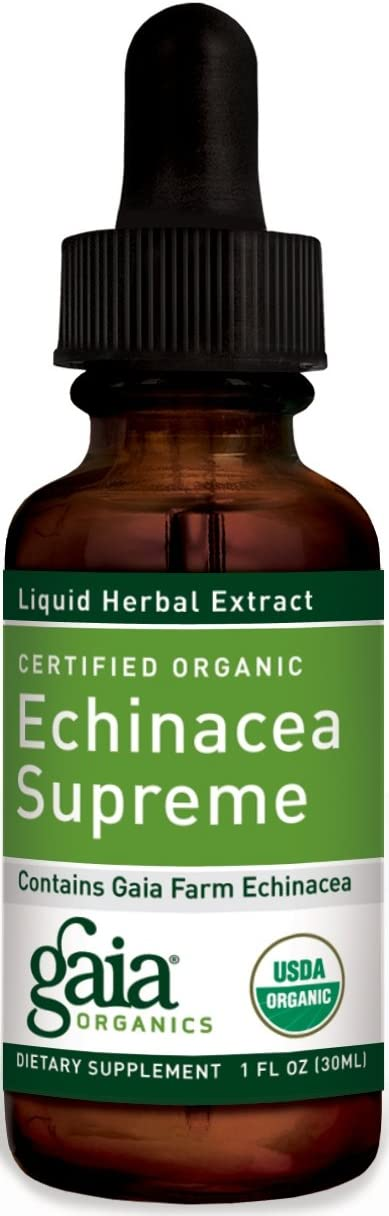 Gaia Herbs Echinacea Supreme, 1-Ounce Bottle Pack of 2