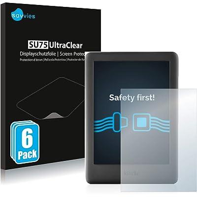 savvies Protector Pantalla Compatible con Amazon Kindle 2019 (10a generación) (6 Unidades) Pelicula Ultra Transparente