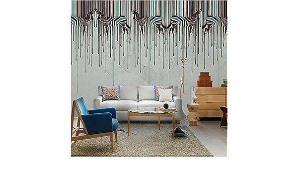 CICDGD Papel Pintado Papel Pintado Retro Minimalism Fashion Zebra Art 3D Murales Sala de Estar/Dormitorio / TV Wall/Dormitorio de los niños: Amazon.es: ...