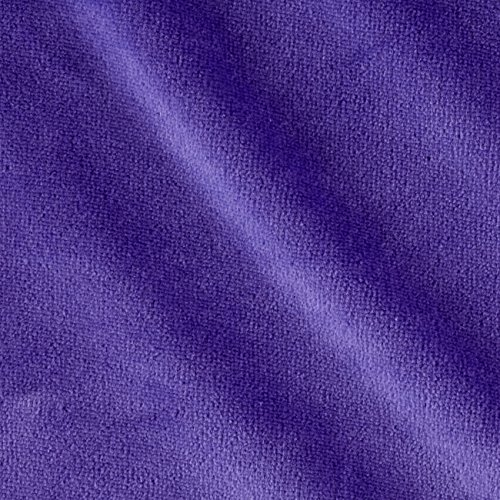 Cotton Velour Fabric - Mike Cannety Textiles Solid Velour Lavender Fabric by The Yard,