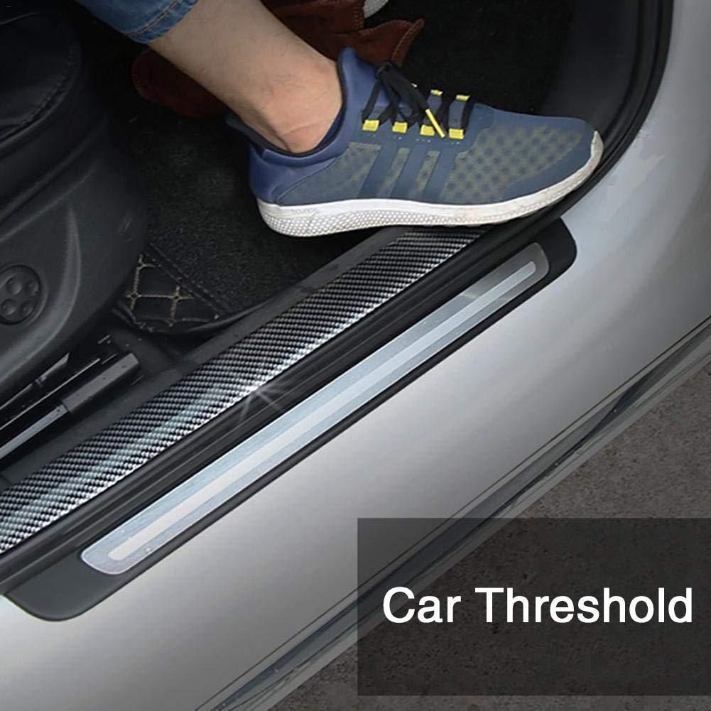 Nishci Porte Sill Protecteur De Voiture Autocollants 5D en Fiber De Carbone en Caoutchouc Styling pour KIA Toyota BMW Audi Mazda Ford Hyundai