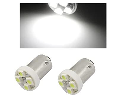 TecnoStore® - 2 Bombillas LED para luces de posición de coche 4 SMD blanca BA9S