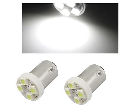 Lampadina Luci Di Posizione : Tecnostore® 2 luci di posizione lampada led 4 smd bianca ba9s