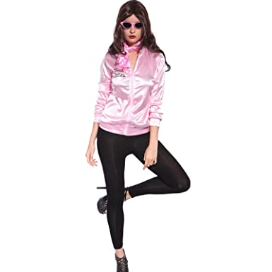 92007aaed18f Retro 50s Grease Pink Lady Sweetie Jacket Hen Party Dance Costume Fancy  Dress (X-