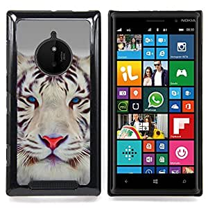 - Tiger Cute Eyes Feline Big Cat Winter - Caja del tel????fono delgado Guardia Armor- For Nokia Lumia 830 Devil Case