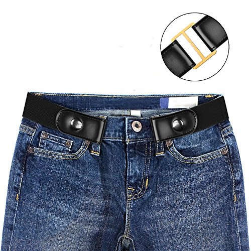 Dimi No Buckle Stretch Belt For Women/Men,Elastic Waist Buckle-Free Easy Comfortable Belt.No Bulge,No Hassle.Unisex,M (36' Relaxed Fit Jeans)