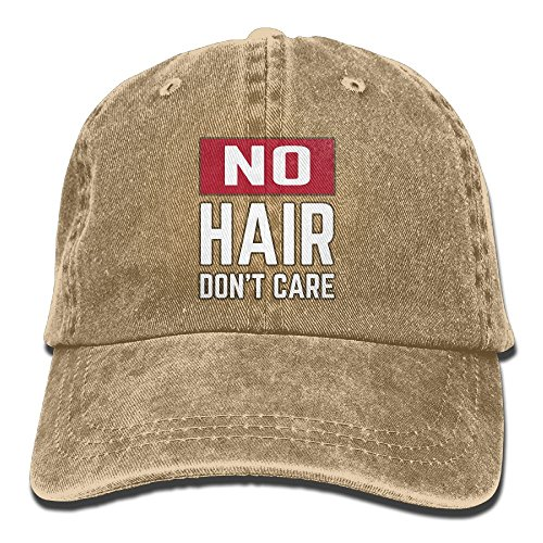 AZNM Unisex Washed No Hair Don't Care Classic Denim Baseball Cap Adjustable Rapper Hat]()