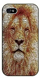 iPhone 5C Lion face. Holy son of Christ, Holy Lord, - black plastic case / Jesus, cross
