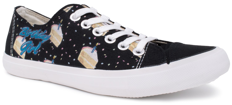 Birthday Girl Sneakers | Cute, Fun Bar Party Cake Decoration Tennis Shoe - Women - (Lowtop, US Men's 7, US Women's 9)
