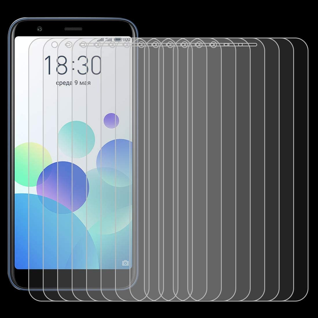 HAIJUN Phone Screen Film 100 PCS for ASUS ZenFone 6 0.26mm 9H Surface Hardness 2.5D Explosion-Proof Tempered Glass Screen Film Anti-Scratch Tempered Glass