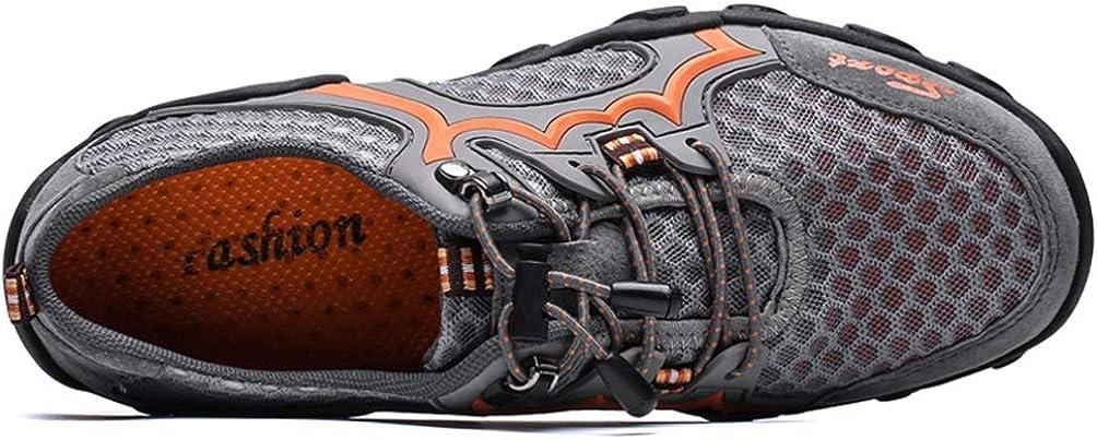 FLARUT Sandales de Marche Homme /Ét/é Cuir Randonn/ée Ferm/ées Plage Fisherman Leather Chaussures D/écontract/ées Respirant