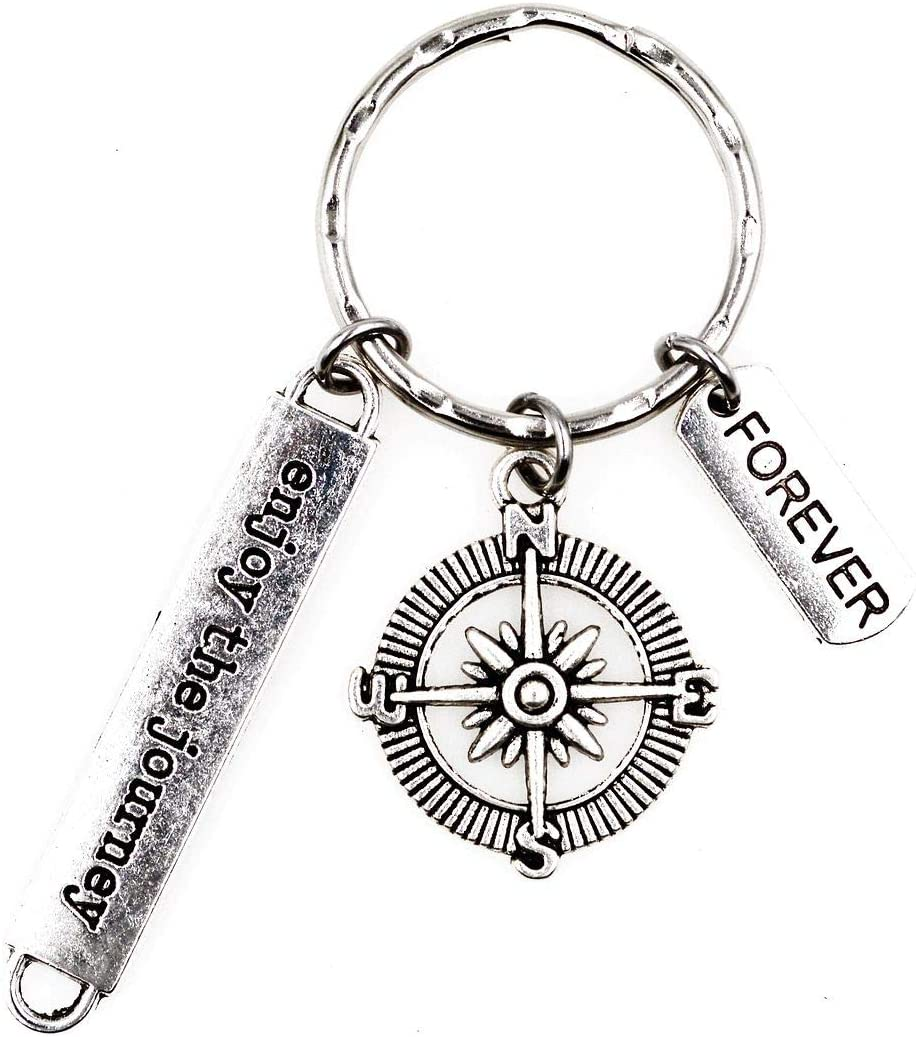 Enjoy The Journey Compass Forever Keychain 2I Its All About...You