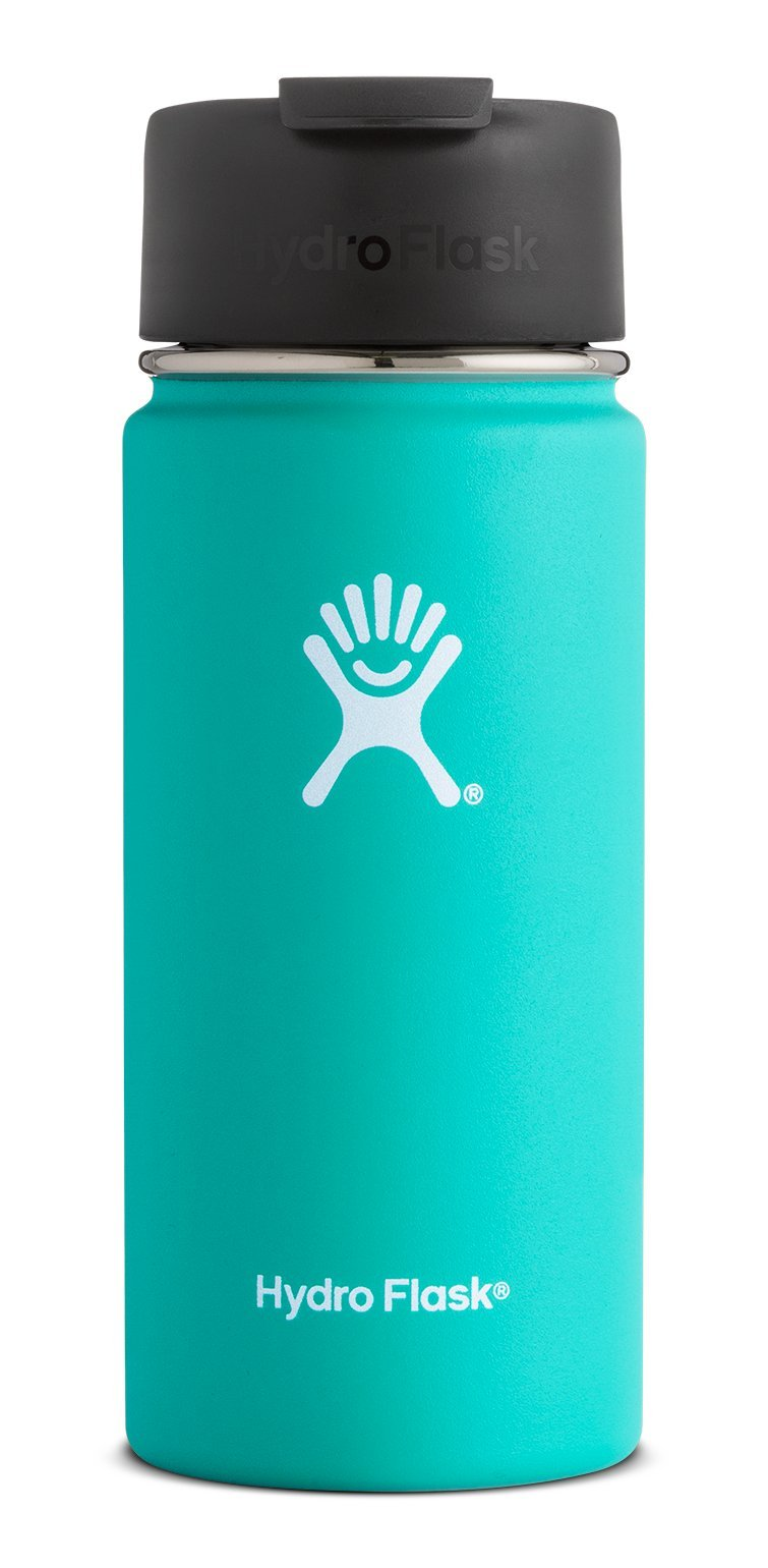 Hydro Flask 20 oz Double Wall Vacuum Insulated Stainless Steel Water Bottle/Travel Coffee Mug, Wide Mouth with BPA Free Hydro Flip Cap, Mint