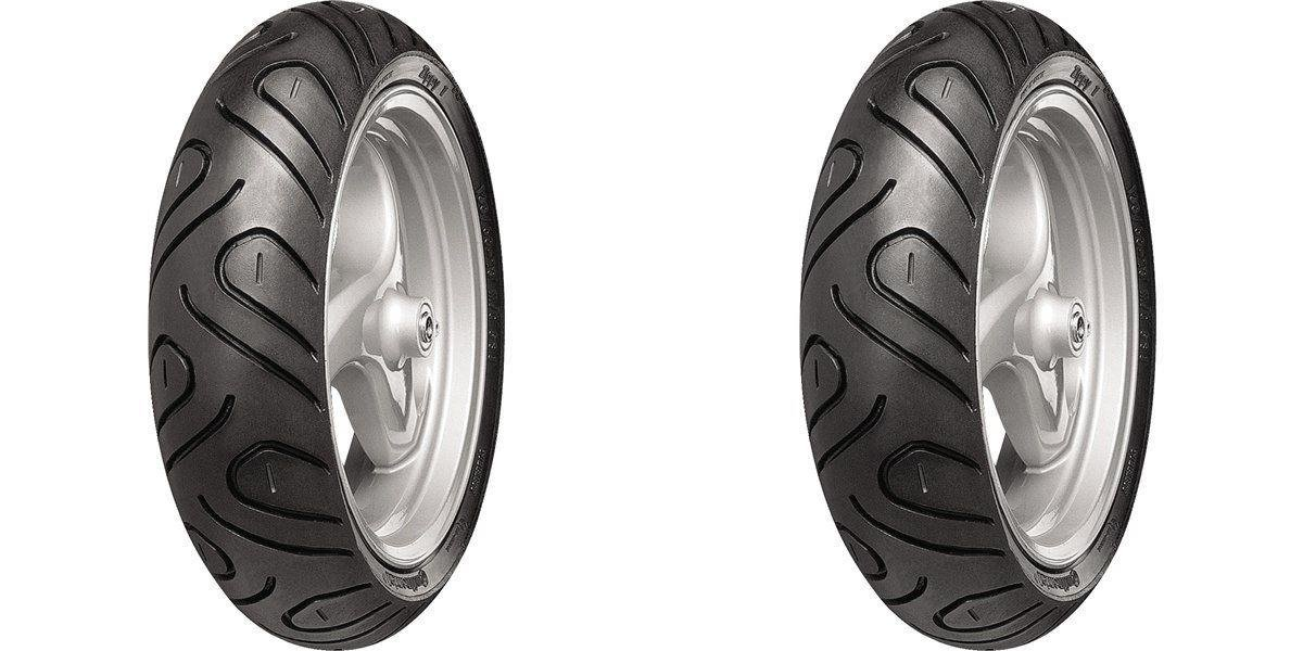 CONTINENTAL Zippy 1-Performance Scooter Front/Rear Tire Set, 120/70-10 by CONTINENTAL (Image #1)