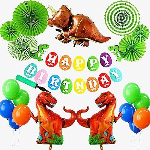 恐竜 ドラゴン 動物 happy birthday 特別 誕生日 飾り セット風船 空気入れ付きおもちゃ バナー ガーランド バルーン  パーティー 装飾 バースデー 男の子 女の子