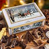 """Truhe """"Winter-Kutschenfahrt"""", Keksdose mit Weihnachtsgebäck, süßer Genuss, mit Lebkuchen & Co., ideales Weihnachtsgeschenk, 1 x 2,02 kg"""