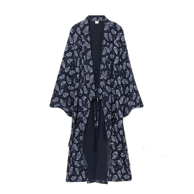 Yukata de los hombres batas Kimono Robe Khan Pijamas de ropa al vapor # 07 M: Amazon.es: Ropa y accesorios