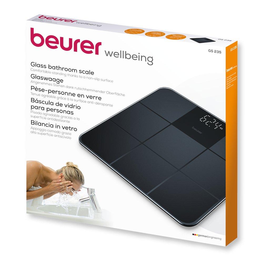 Beurer GS 235 - Bascula digital de vidrio antideslizante, color negro: Amazon.es: Salud y cuidado personal