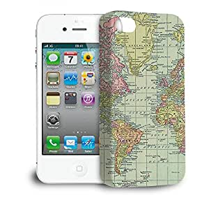 Phone Case For Apple iPhone 4/4S - Antique World Map 1913 Glossy Slim